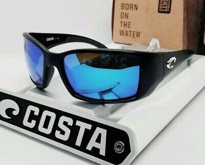 580G - COSTA DEL MAR matte black/blue mirror BLACKFIN POLARIZED sunglasses! (Costa Blackfin 580g)