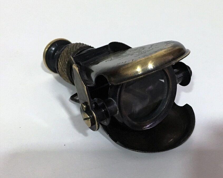Vintage Folding Pocket Brass Monocular Binocular Telescope London 1857 Maritime