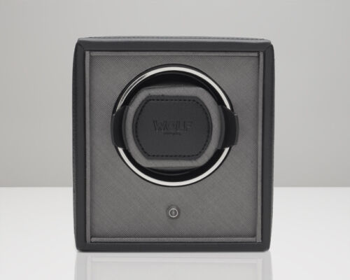 Wolf Single Automatic Stackable Battery Powered Cub Watch Winder Black
