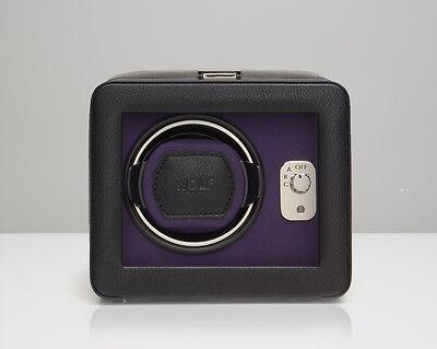 Windsor Single (WOLF 452503 Windsor Single Watch Winder Black/Purple With)