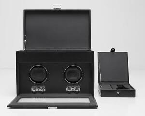 Wolf Designs 270402 Heritage Module 2.1 Double Watch Winder with Cover and Storage NEW