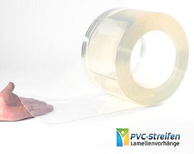 25m x 200mm x 2mm - PVC Streifen Rolle Lamellenvorhang glasklar Streifenvorhang