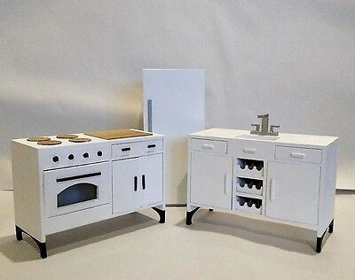 1:6 Scale Furniture for Fashion Dolls  Action Figures 4250 3 pc. Kitchen Set