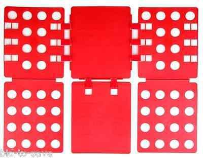 RED Adult Dress T Shirt Clothes Flip & Fold Folder Board Laundry Organizer