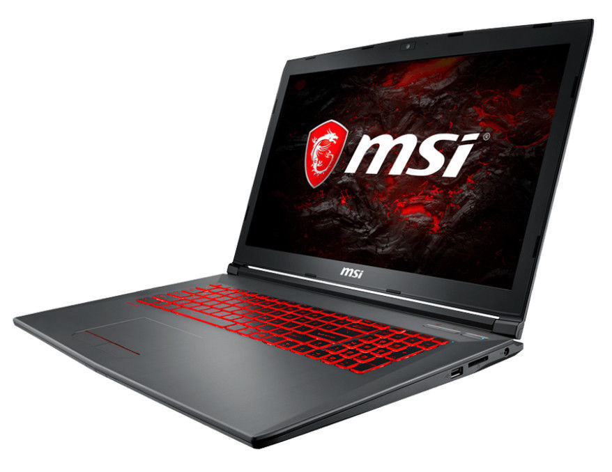 "MSI GV72 7RE 17.3"" FHD Intel Core i7-7700HQ 8GB 1TB 128GB SSD GTX 1050Ti Laptop"