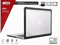 """NEW STM Dux 15"""" Cover Black Rugged Case for 15 inch MacBook Pro With Retina LCD Display New"""