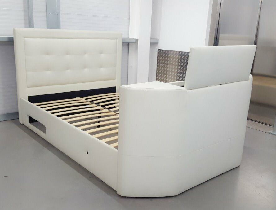 Cool King Size Tv Bed Frame Leather In Orpington London Gumtree Machost Co Dining Chair Design Ideas Machostcouk