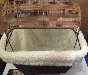 NEW Solvit Tagalong Wicker Bicycle Basket