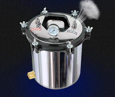 18l Portable Stainless Steel High Pressure Steam Sterilizer Autoclave 220v
