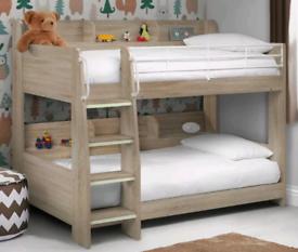 Wooden Bunk Bed, Domino Children's Storage Bed Single