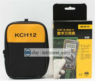 Fluke 106 Palm-sized Digital Multimeter Dmm Meter With Soft Case Kch12