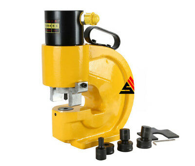 Ch-70 35t Hydraulic Punch Machine Metal Sheet Punching Hole Tool Max.12mm