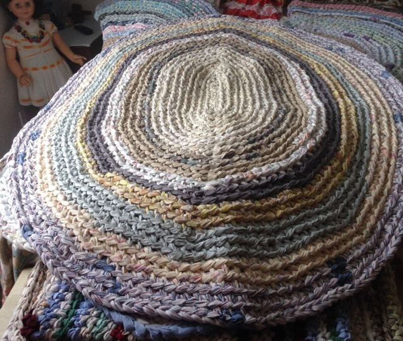 How to Make a Crocheted Rag Rug eBay