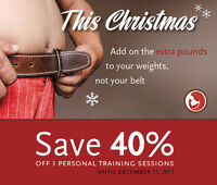 40% OFF PERSONAL TRAINING SESSIONS