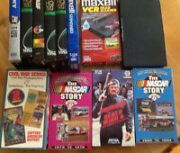 VHS MOVIES & 8 BLANK TAPES & DVD COPY