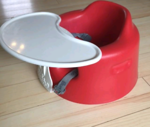 Red bumbo chair with straps and tray new