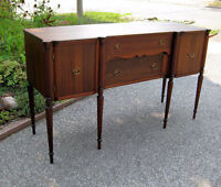 Rare Antique Hepplewhite Mahogany Sideboard, Dining Table Chairs
