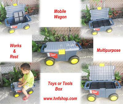 Organizer Plastic Portable Tools Box Storage Home Garden Car Truck Case Wagon ()