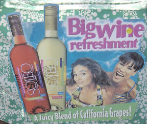 Soleo Big Wine Refreshment Sign  Colourful Tin Sign Belleville Belleville Area image 4
