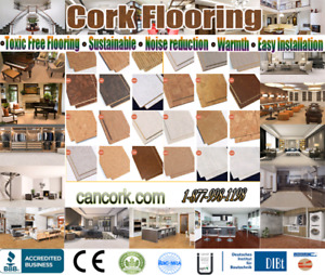 Go nature made and go green, floating cork flooring