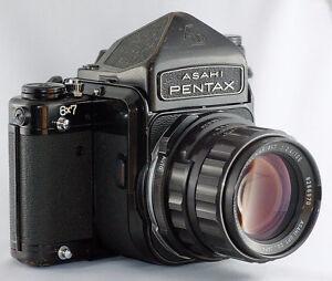 Pentax 6X7 Medium Format SLR Film Camera with 75 & 105mm
