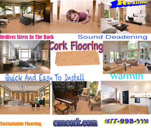Cork flooring sound reduction, eco-friendly, a natural thermal