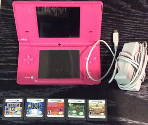 Nintendo DSI With Charger and 4 Games!!