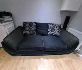 3 seater sofa black/grey. SCS.