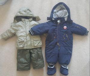Baby boy snowsuits size 12 months