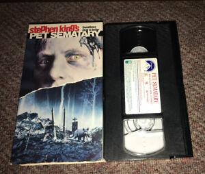 PET SEMATARY VHS STEPHEN KING  CULT CLASSIC HORROR