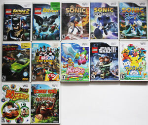 Lot of Wii Games Batman Sonic Kirby Pokemon Kong - $5 and up