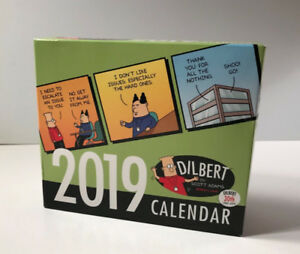 Mint Condition (New)- DILBERT 2019 Day to Day Calendar