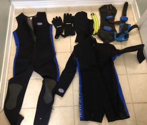 Dive Ocean Run wet suit with weights and bag