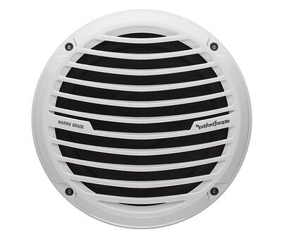 Rockford Fosgate Rm18d4 White 8  Dual 4 Ohm Marine Subwoofer 300 Watts Max