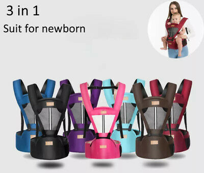 Newborn Baby Carrier Breathable Ergonomic Adjustable Wrap Backpack Hip Seat Qual