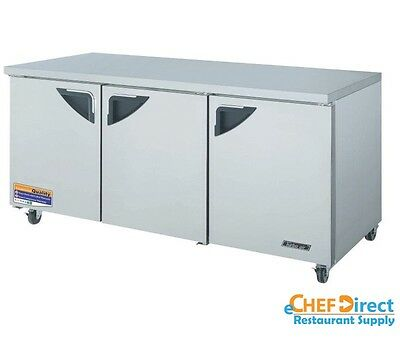 Turbo Air Tur-72sd-n Super Deluxe 72 3 Door Undercounter Refrigerator