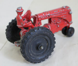 Lincoln Toys Tractor and 2 Trailers Pressed Steel Die Cast Toy