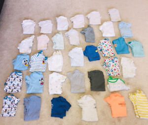 ONESIES GALLOR! Size 24 months short sleeved onesies, 35 pieces