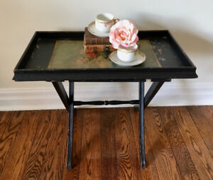 Vintage shabby chic tray table