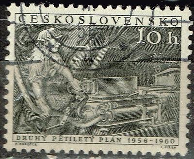 Czech Underground Coal Miner stamp 1960