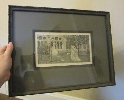 12 x 17 Vintage framed print. Vision of St. Bernard. Wilhelm (Bernard Wilhelm)