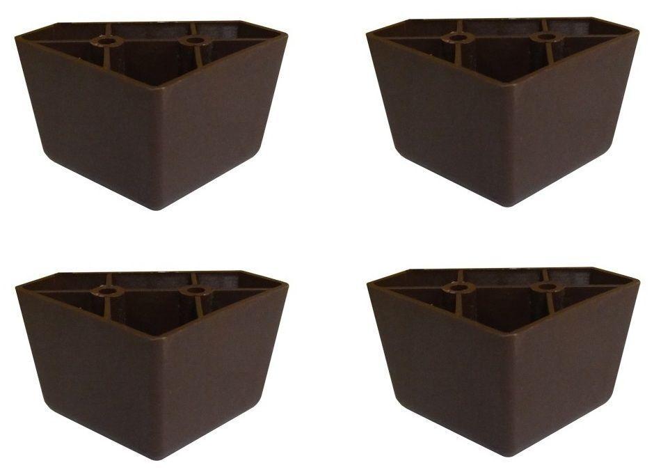 set of 4 universal dark brown plastic