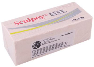 Sculpey Polymer Clay 1 Pound (Sculpey III Beige Polymer Clay 1 lb pound 453.6g 093 Oven Bake Clay)