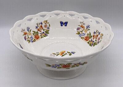 Aynsley Cottage Garden Large Serving Bowl Vintage Bone China Made In England