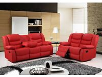 !!! Luxury!!! London Bonded Recliner Sofa Set Available in Black Brown or Cream colors