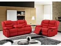 High Quality Stylish 3+2+1 Seater Leather Recliner Sofa Suite Brown/Black/Cream Colors