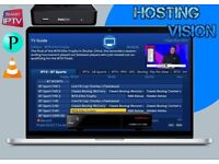 Hosting Vision IPTV Service - Reliable 1080P - All devices working - Full EPG - Unbeatable service.