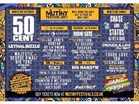 2x weekend tickets mutiny festival