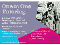 Gift Vouchers for the Drawing and Painting Studio - Online and One to One Art Tutoring