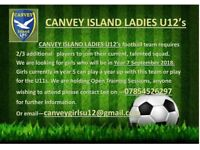 Girls football team in Essex, looking for players - Current Year 6 at school for U12s next season